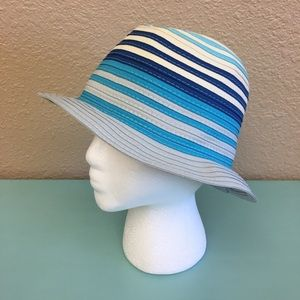 Accessories - Calvin Klein women's striped Panama hat